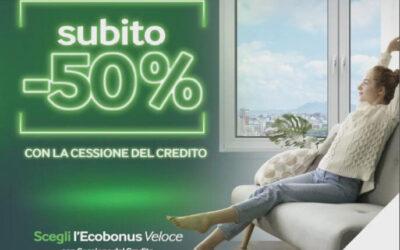 Ecobonus veloce: -50% con la cessione del credito